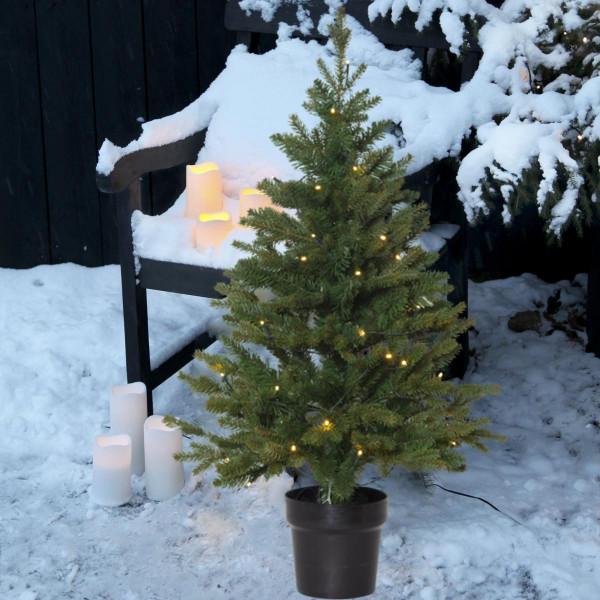 Weihnachtsbaum künstlich Byske H90cm B55cm 40 LED grün outdoor