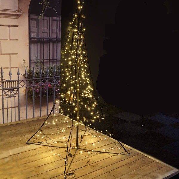 Fairybell Weihnachtsbaum H200cm, 240 LED, mit Mast und Standkreuzg