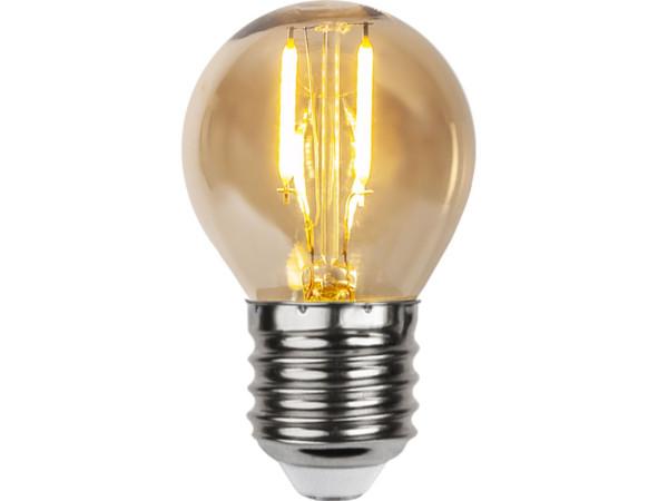Set mit 4 Birnen System 24 LED Birne, Fassung E27 24V, 7 x 4.5 cm, LED amber