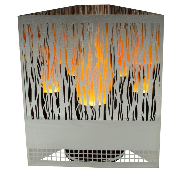 Flammenleuchte 5-eckig Vine 26x12, Höhe 30cm, Cheminée loderndes Feuer