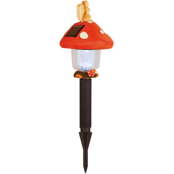 Solar-Pilzleuchte, LED kaltweiss, Solarpanel, Akku, 47 x 16 cm
