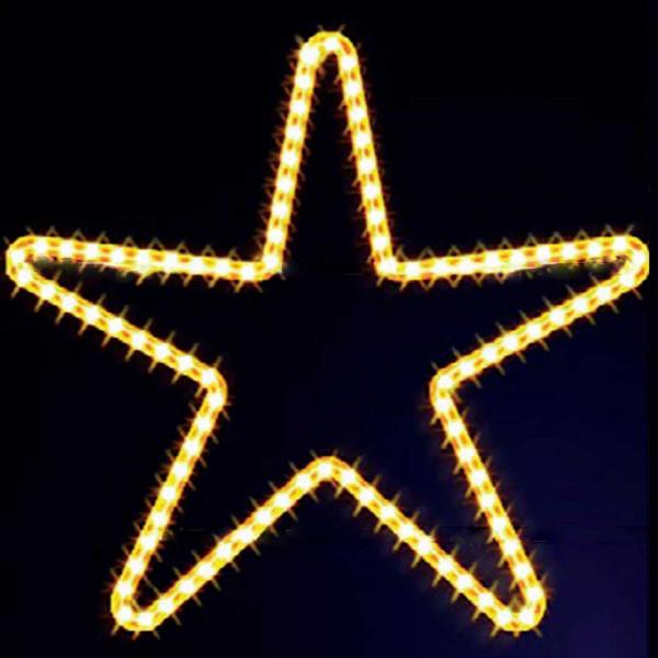Leuchtstern Star 70, H70, B80cm, warmweiss, Montage an Mauer