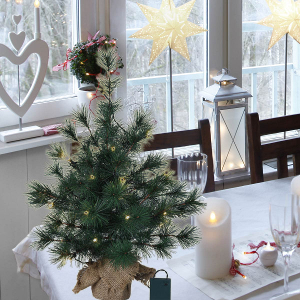 Weihnachtsbaum künstlich Furu H60cm B40cm 20 LED grün indoor