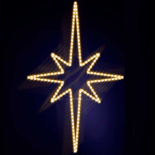 Leuchtstern Pakri 130, H130, B85cm, warmweiss, Wandmontage