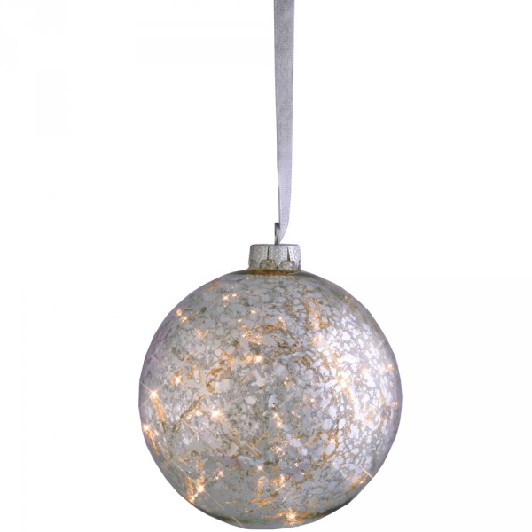 Glas-Ball Argent Ø15cm, 16 LED, Indoor, 24 Volt, 4 Watt