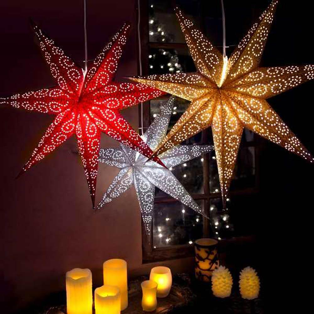 Papiersterne Weihnachtsbeleuchtung.Sterne Aus Papier Apesa