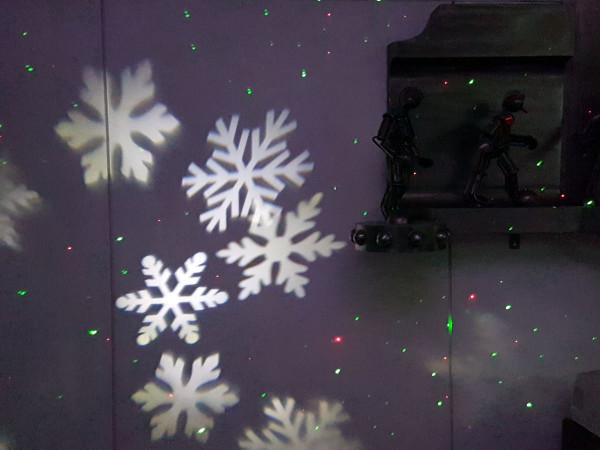 Led Weihnachtsbeleuchtung Laser.Led Projektor 4 Schneeflocken Indoor Mit Geschwindigkeitsregler