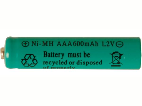 Batterie Typ AAA, LR03, 1.2 Volt, 600mAH, Ni-MH, wiederaufladbar