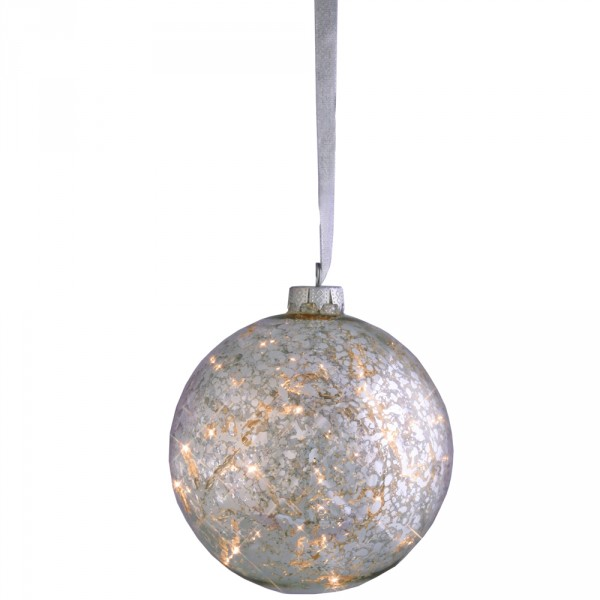 Glas-Ball Argent Ø12cm, 8 LED, Indoor, 24 Volt, 4 Watt