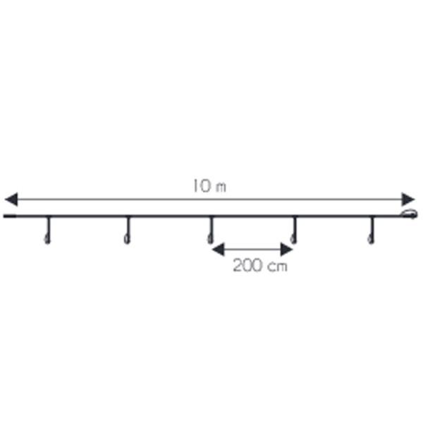 Hauptkabel 230V, 1000 cm 5 Ausgänge
