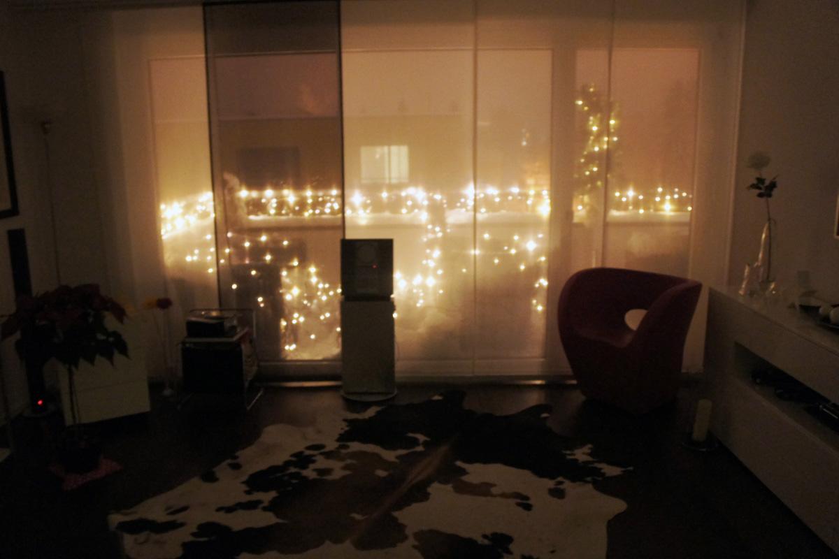 Weihnachtsbeleuchtung Wohnzimmer.Led Video Balkonbeleuchtung Apesa