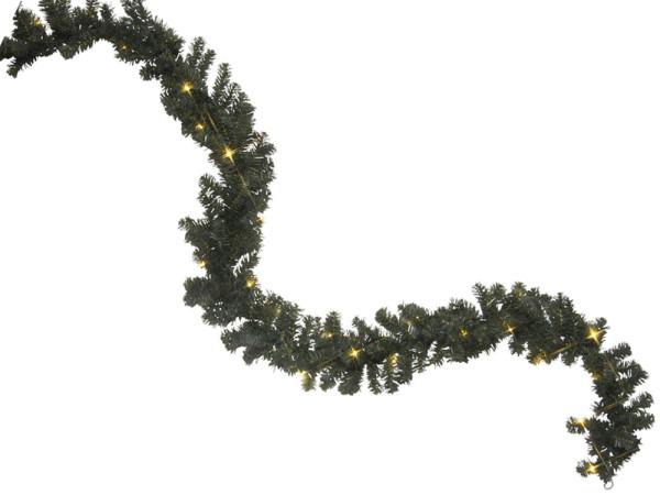 Tür-Girlande 500 cm, 72 LED warmweisse Birnchen, mit Trafo, Outdoor