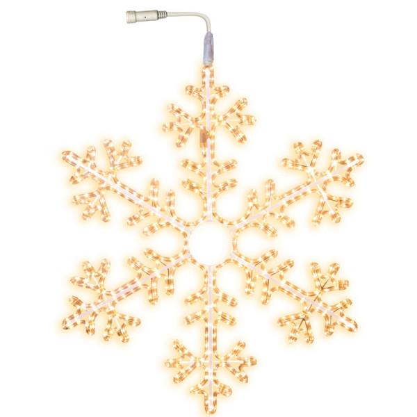 Schneeflocke LED Ø 100 cm mit Startkabel, 504 LED warmweiss, ausbaubar