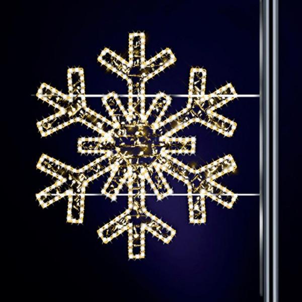 Schneeflocke Gabriela 120, H120, B125cm, warmweiss, leicht blinkend, Pfostenmontage