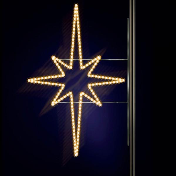 Leuchtstern Pakri 130, H130, B95cm, warmweiss, Kandelaberbeleuchtung, Pfostenmontage