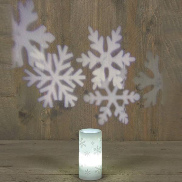 Weihnachtslampe Projektor mit Schneeflocken als Lampe