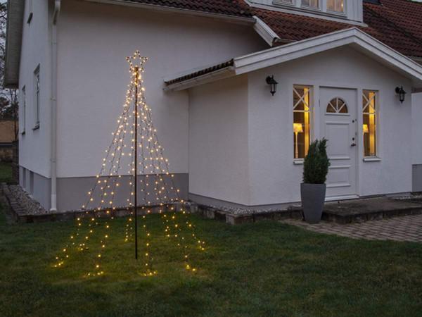 Lichterkettenbaum-H250cm 420 LED mit Mast und Bodenanker