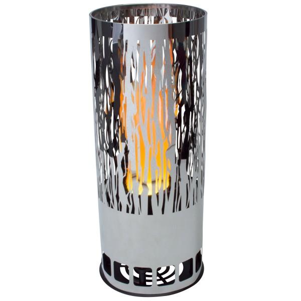 Flammenleuchte rund Vine Ø12, Höhe 30cm, loderndes Feuer Ausstellungsmodell