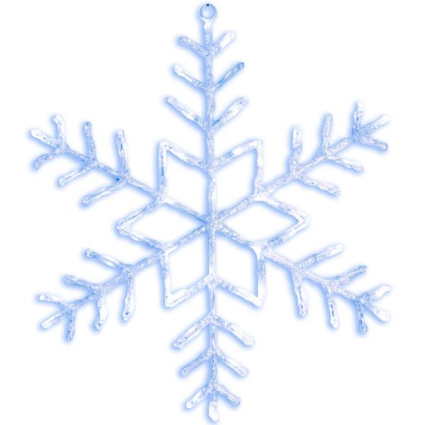 Acryl-Schneeflocke Antarctica, 48 LED kaltweisse, Ø 80 cm, outdoor