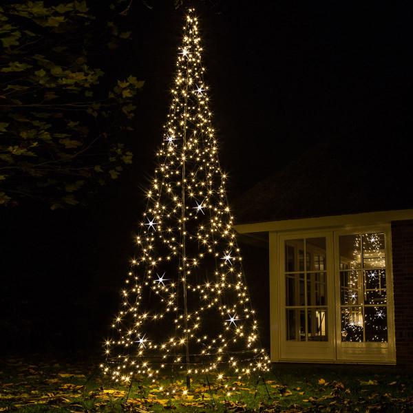 Fairybell weihnachtsbaum h420cm 640 led flasch 5 blinkend mast bodenanker - Fairybell led weihnachtsbaum ...