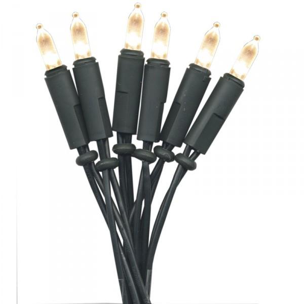 Lichterkette Mini, 50 P-LED warmweiss, Kabel grün, indoor