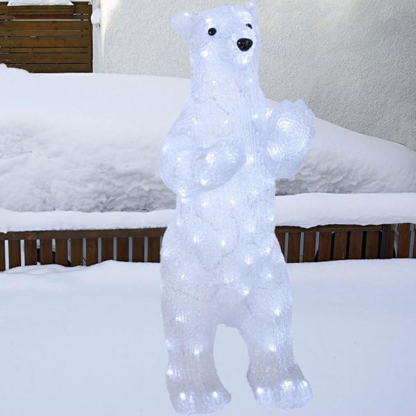 Eisbär stehend, L30, H80 cm, 100 LED kaltweiss, Ausstellungsmodell