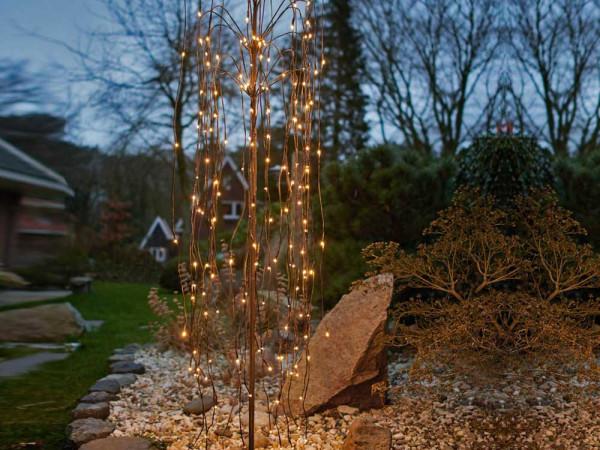 Weidenbaum, H180cm, 18 hängende Äste mit ja 10 LED, 180 LED warmweiss