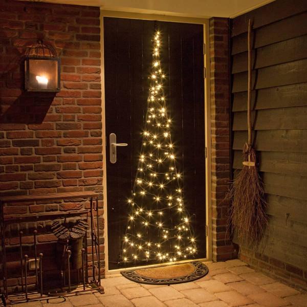 Fairybell Weihnachtsbaum H210cm, 60 LED warmweiss für Türen, Fenster und Wände