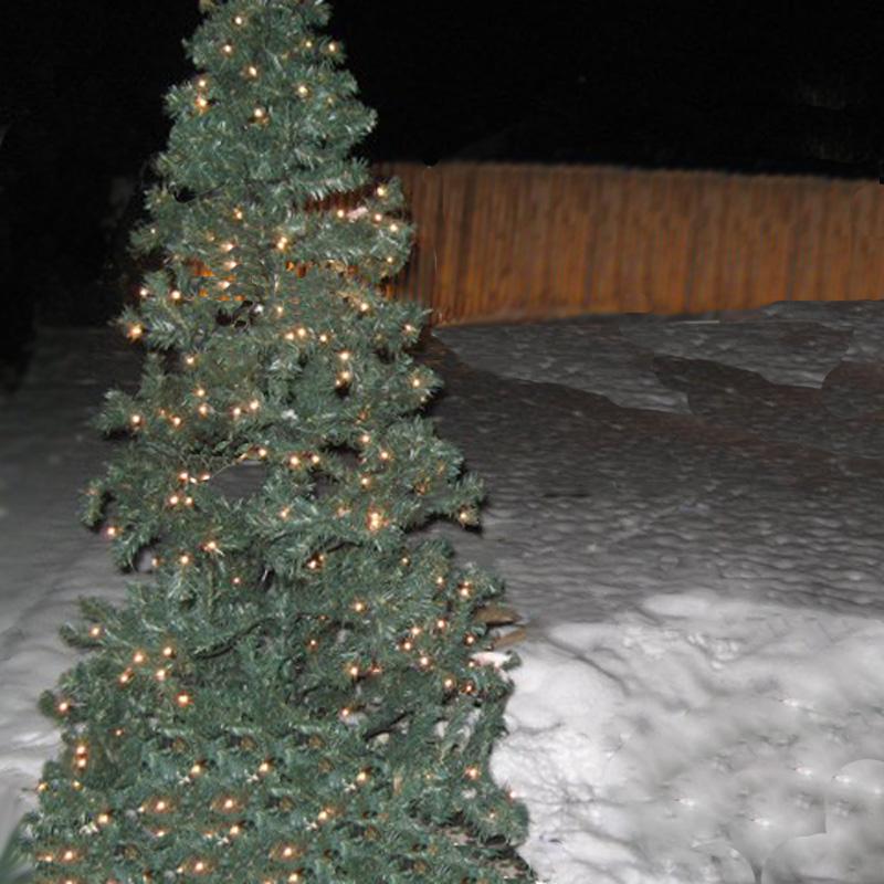 Lichterbaum draussen aufstellen
