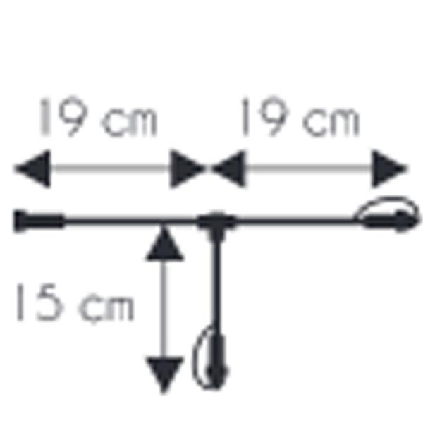 Verzweigung Kabel 230V, mit 2 Ausgänge 38cm, schwarz