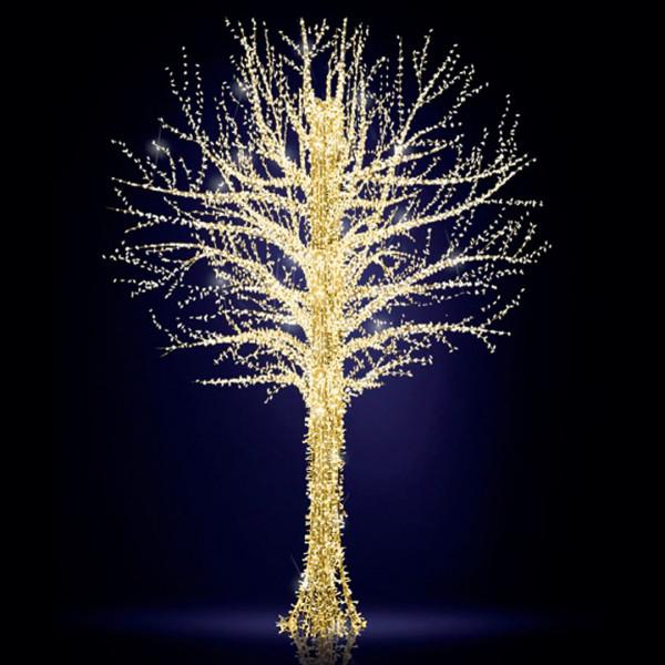 Leuchtbaum Baltic Tree 500, H500, B330, L330cm, warmweiss, 8 Äste, 3D, leicht blinkend, mit Stange