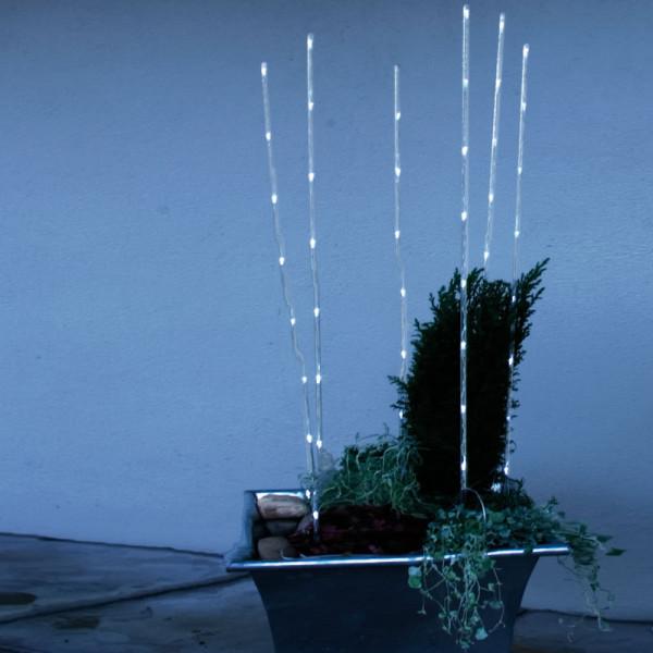 6 Leuchtstäbe 90 cm mit je 8 kaltweissen LED, outdoor