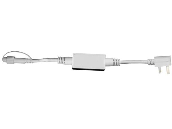 System LED Profi Anschlusskabel Start, 180 cm, 230 Volt, Kabel weiss