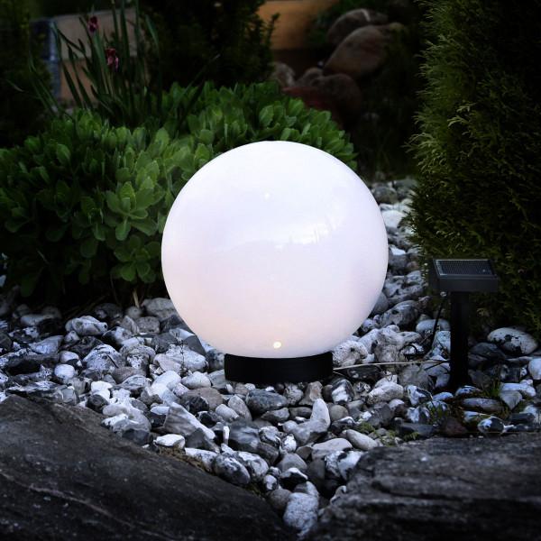 Leuchtkugel Solar Globe Ø 25 cm mit grossem Solarpanel
