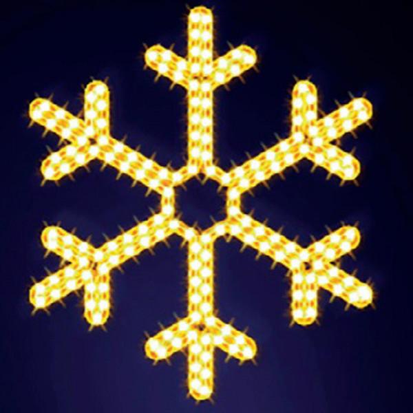 Schneeflocke Mini 70, H70, B60cm, warmweiss, Wandmontage