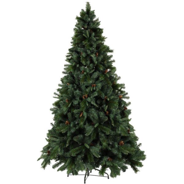Weihnachtsbaum Toronto H225, Ø145cm, Tannenzapfen, ohne Licht