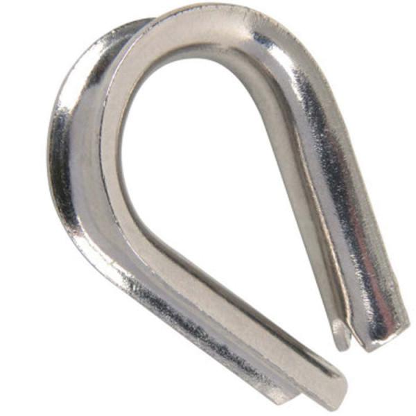 Kausche mit Nut M5 für Stahlseil