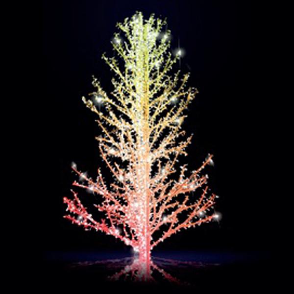 Leuchtbaum Sasha 300 RGB, H300, B190, L190cm, Smart LED Farben programmierbar, 5 Äste, ohne Stange