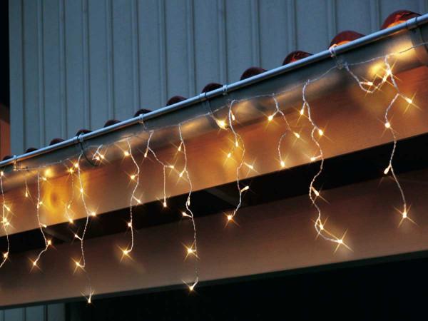 Icicle LED, 144-teilig warmweiss, 400 x 40 cm, Kabel transparent