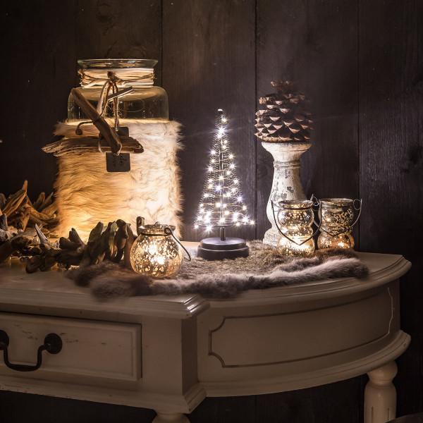 Santa´s Tree S, Weihnachtsbaum H25 cm, 40 LED, Batteriebetrieb