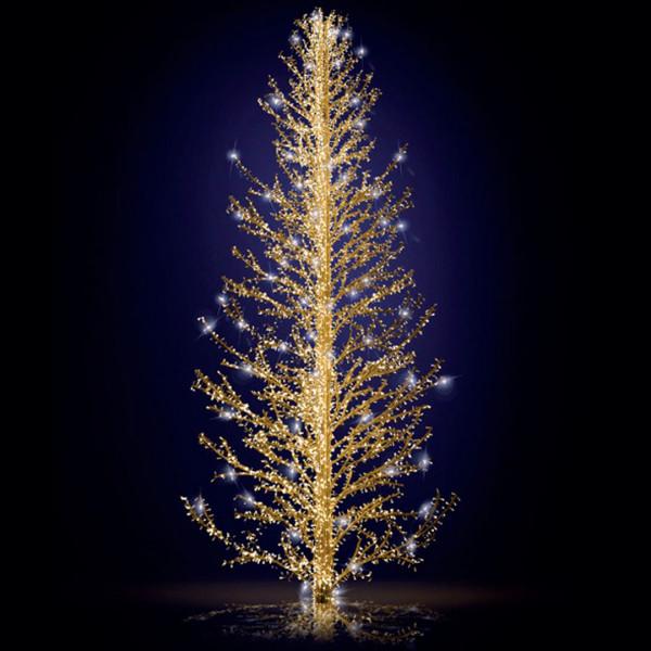 Weihnachtsbaum Sasha 800, H800, B360, L360cm, warmweiss, 7 Äste, 3D, leicht blinkend, ohne Stange