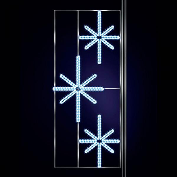 Leuchtstern Krettinga 310, H300, B120cm, kaltweiss, Strassenlichter, Pfostenmontage