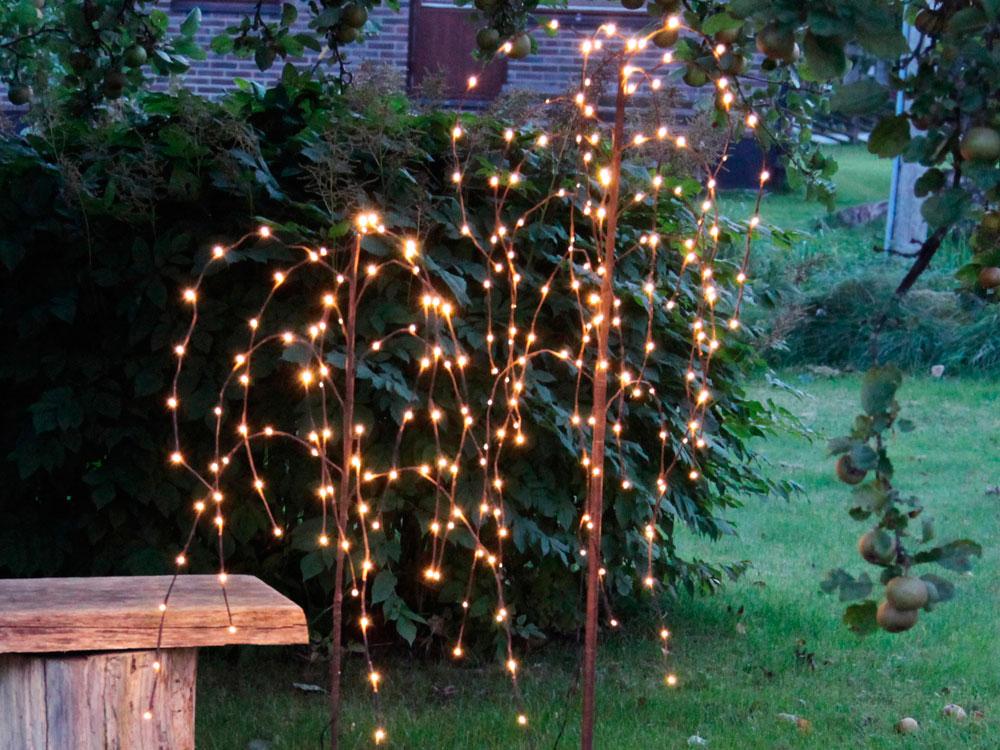 Lichterzweige und Lichterbäume verschönern Ihren Garten
