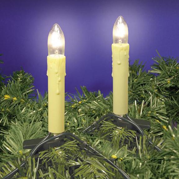 Baumkerzen zur gefahrlosen Dekoration von Christbäumen