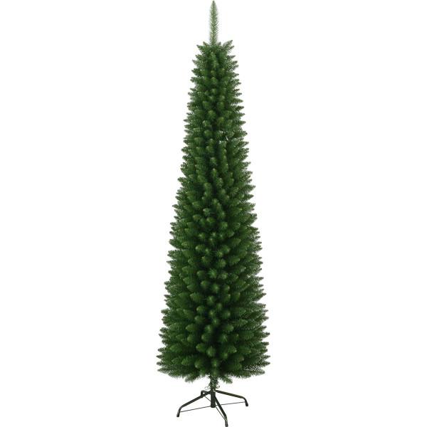 Weihnachtsbaum künstlich Slimline H210cm B60cm, ohne Licht, grün outdoor