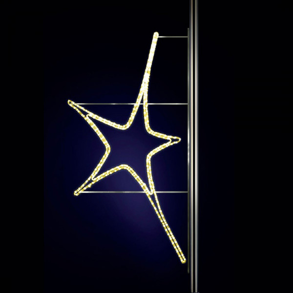Leuchtstern Aries 150, H150, B80cm, warmweiss, Strassenlichter, Pfostenmontage