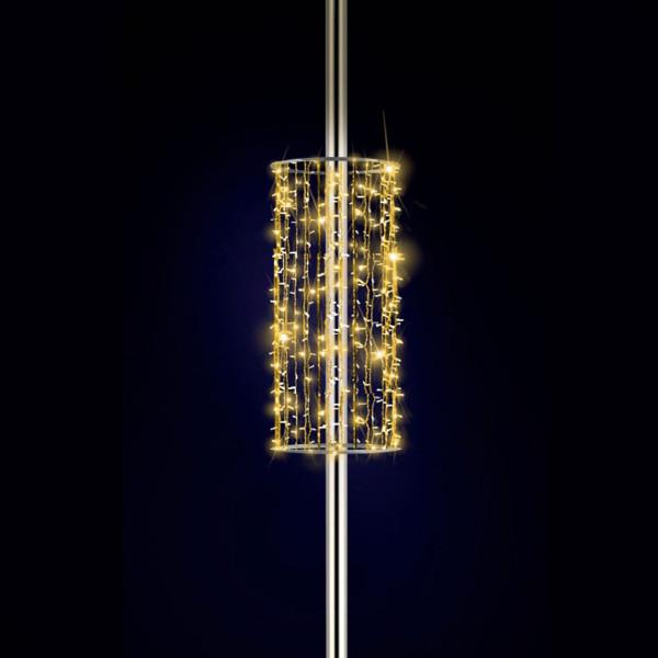 Kandelaberdekoration Tallinn 150, H150, B60, L60 cm, warmweiss, leicht blinkend, Pfostenmontage