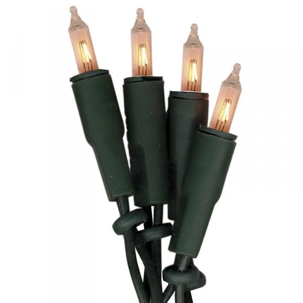 Lichterkette Mini, 20 Push in Birne, Kabel grün, indoor