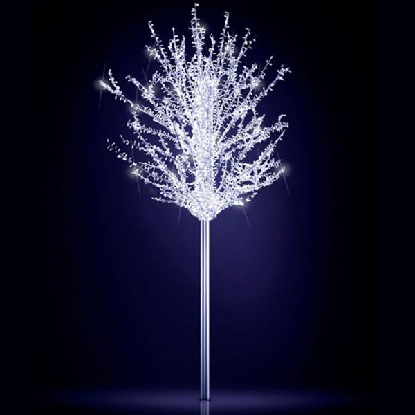 Leuchtbaum Eden 250, H250, B250, L250cm, kaltweiss, 5 Äste, 3D, leicht blinkend, ohne Stange