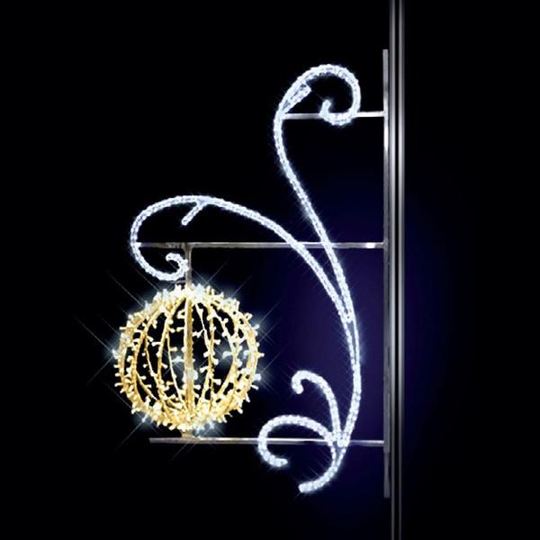 Lichterkugel Nevsky 185, H185, B120, L60cm, warmweiss, 3D, Kandelaberbeleuchtung